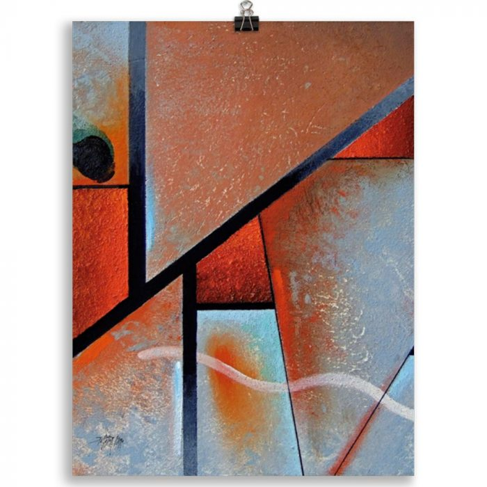 Reproducción de arte en lámina 30x40 cm - Tribal I - Óleo - Geometrías-pintado por Fernando Pagador