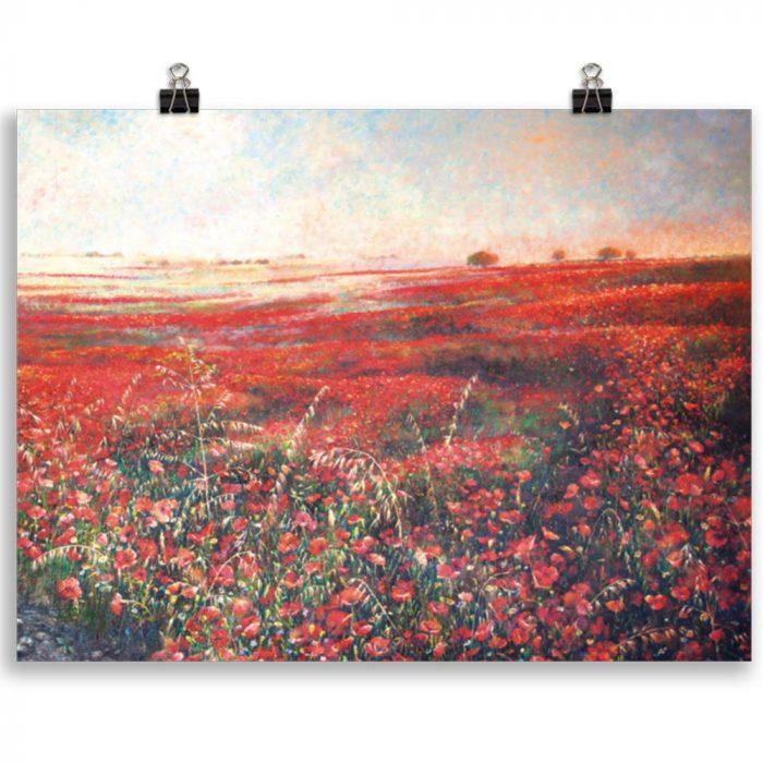 Reproducción de arte en lámina 30x40 cm - Termino de Valverde 3 - Óleo - Paisaje - Naturalismo -pintado por Fernando Pagador