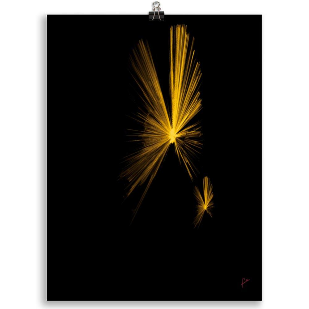 Reproducción de arte en lámina 30x40 cm - Mariposas - Diseño Digital - Abstracto - Fotografía y Pintura -pintado por Fuli