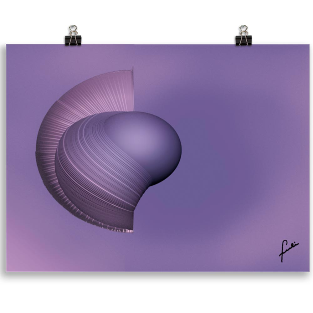 Reproducción de arte en lámina 30x40 cm - Guerrero Argarico - Diseño Digital - Abstracto - Fotografía y Pintura -pintado por Fuli