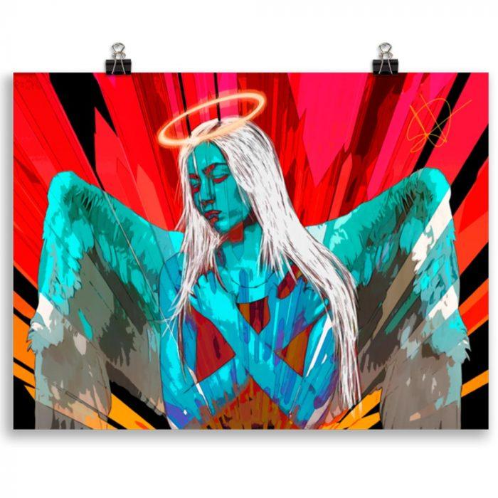 Reproducción de arte en lámina 30x40 cm - Angel Awakening - Diseño Digital - Ilustración - Fotografía y Pintura -pintado por WachiMakeArt