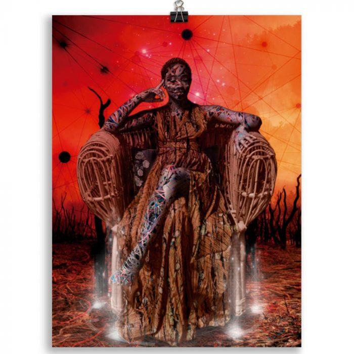 Reproducción de arte en lámina 30x40 cm - Desconexión - Diseño Digital - Ilustración - Fotografía y Pintura -pintado por WachiMakeArt