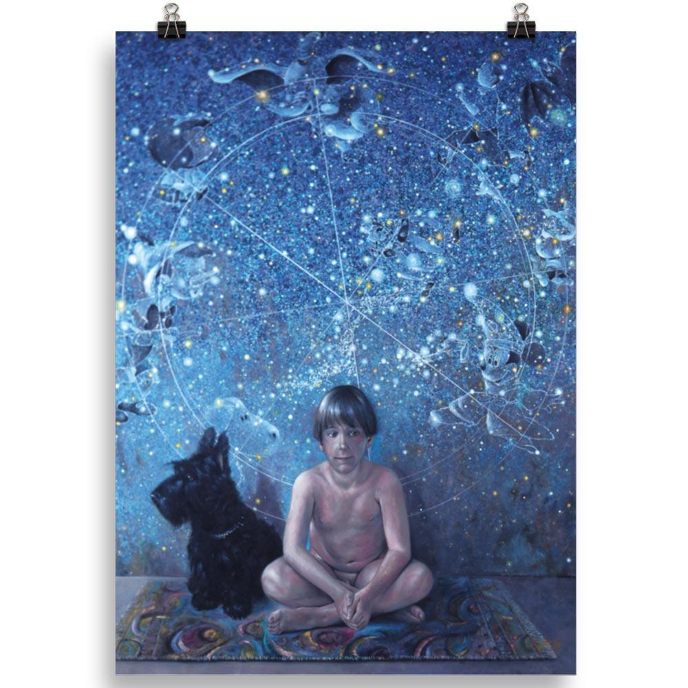 Reproducción de arte en lámina 50x70 cm - UNIVERSO INFANTIL - Óleo - Realismo -pintado por Fernando Pagador
