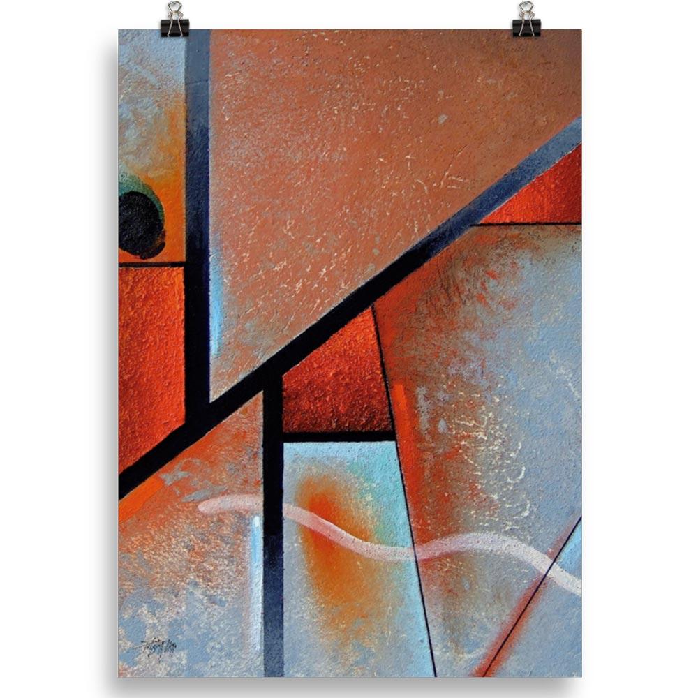 Reproducción de arte en lámina 50x70 cm - Tribal I - Óleo - Geometrías-pintado por Fernando Pagador