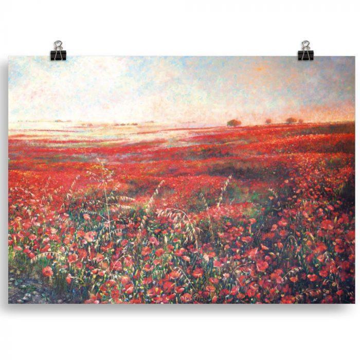 Reproducción de arte en lámina 70x50 cm - Termino de Valverde 3 - Óleo - Paisaje - Naturalismo -pintado por Fernando Pagador
