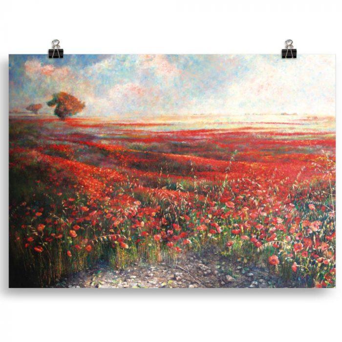 Reproducción de arte en lámina 70x50 cm - Termino de Valverde 1 - Óleo - Paisaje - Naturalismo -pintado por Fernando Pagador