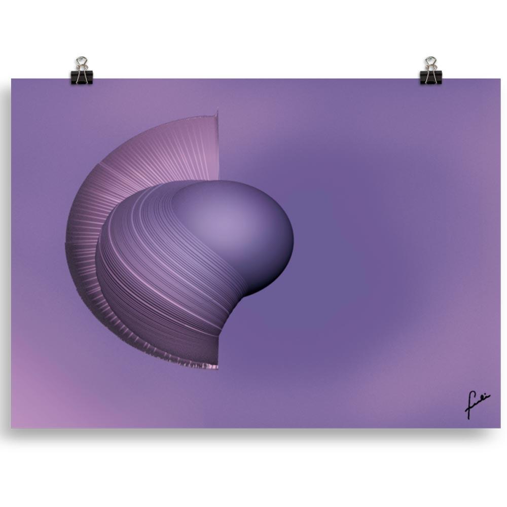 Reproducción de arte en lámina 70x50 cm - Guerrero Argarico - Diseño Digital - Abstracto - Fotografía y Pintura -pintado por Fuli