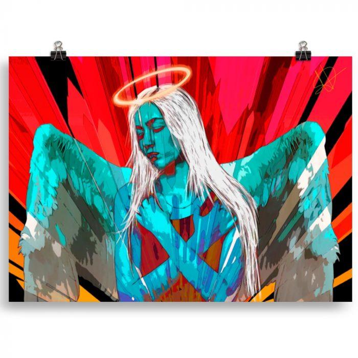 Reproducción de arte en lámina 70x50 cm - Angel Awakening - Diseño Digital - Ilustración - Fotografía y Pintura -pintado por WachiMakeArt