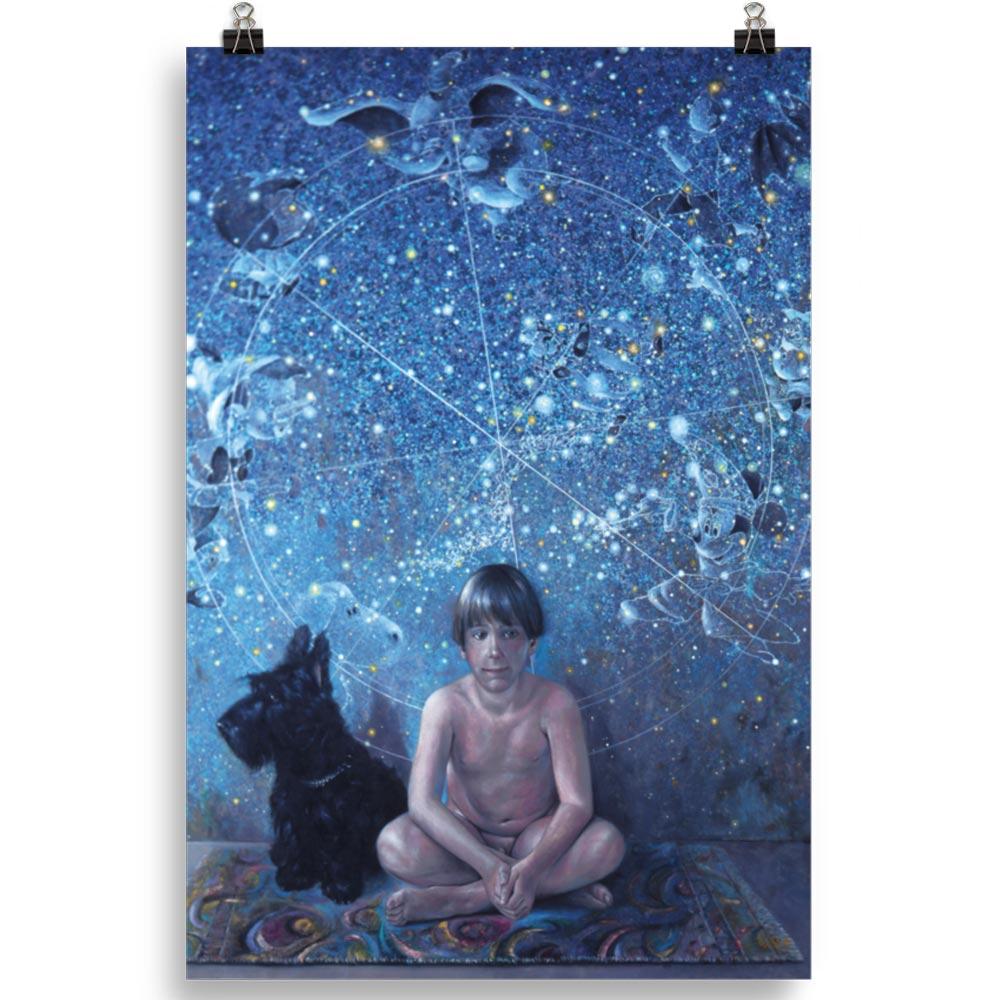 Reproducción de arte en lámina 61x91 cm - UNIVERSO INFANTIL - Óleo - Realismo -pintado por Fernando Pagador