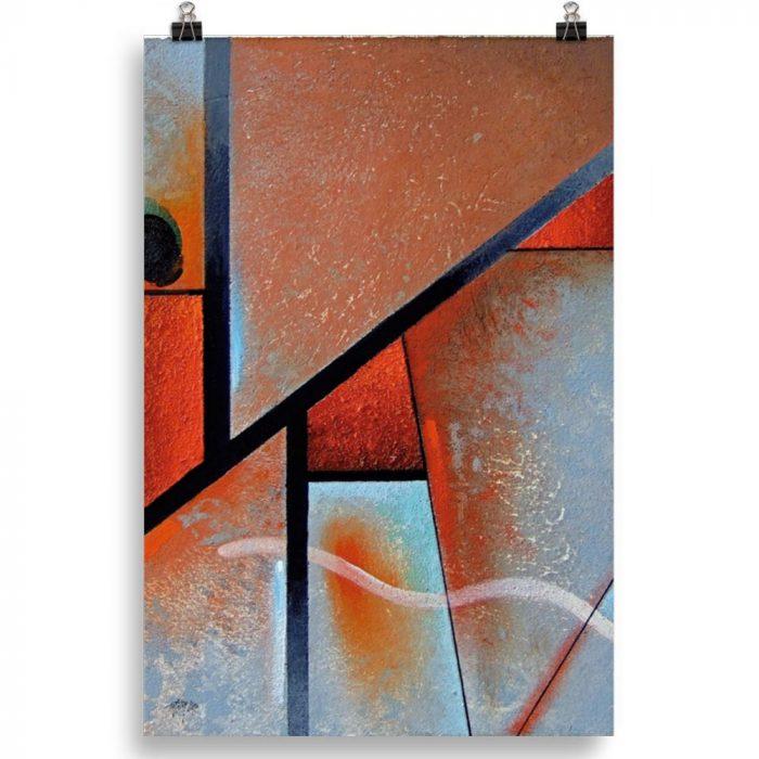 Reproducción de arte en lámina 61x91 cm - Tribal I - Óleo - Geometrías-pintado por Fernando Pagador