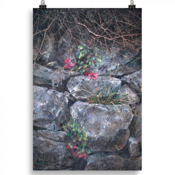 Reproducción de arte en lámina 61x91 cm - Supervivientes - Óleo - Naturalismo-pintado por Fernando Pagador