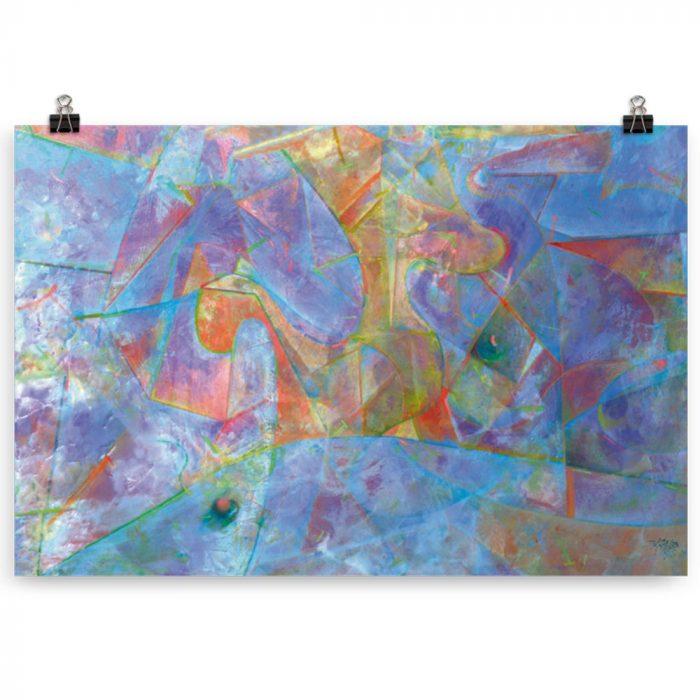 Reproducción de arte en lámina 61x91 cm - Espacio de Comunicación - Encáustico - Geometria y Abstracción - Matérica -pintado por Fernando Pagador