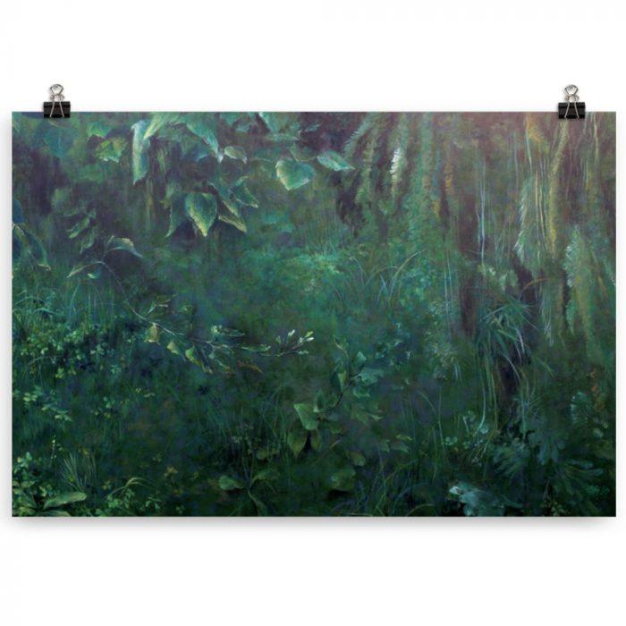 Reproducción de arte en lámina 61x91 cm - Clorofila Derecha - Técnica Mixta - Paisaje - Naturalismo -pintado por Fernando Pagador