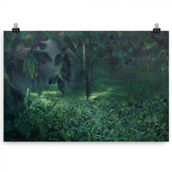 Reproducción de arte en lámina 61x91 cm - Clorofila Izquierda - Técnica Mixta - Paisaje - Naturalismo -pintado por Fernando Pagador