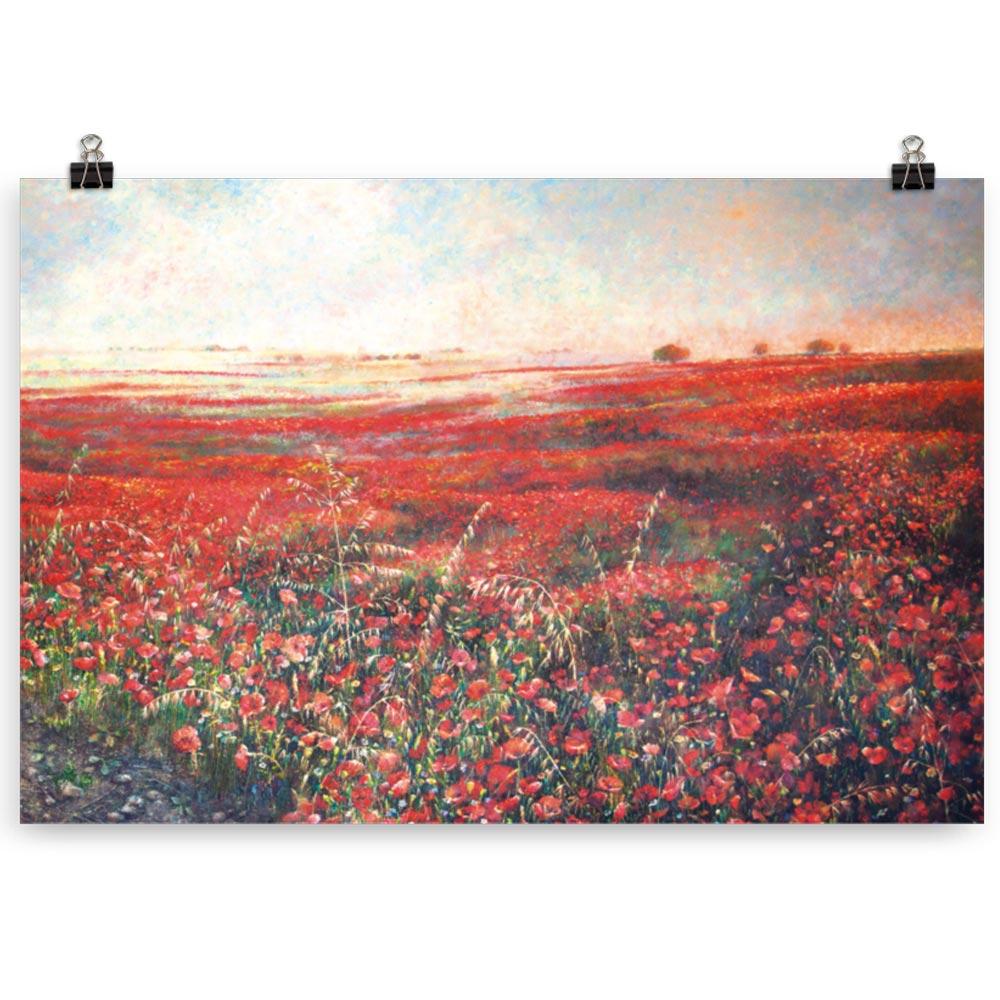 Reproducción de arte en lámina 61x91 cm - Termino de Valverde 3 - Óleo - Paisaje - Naturalismo -pintado por Fernando Pagador