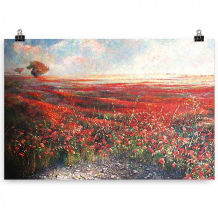 Reproducción de arte en lámina 61x91 cm - Termino de Valverde 1 - Óleo - Paisaje - Naturalismo -pintado por Fernando Pagador