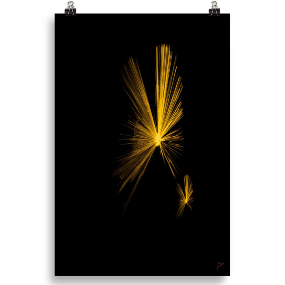 Reproducción de arte en lámina 61x91 cm - Mariposas - Diseño Digital - Abstracto - Fotografía y Pintura -pintado por Fuli