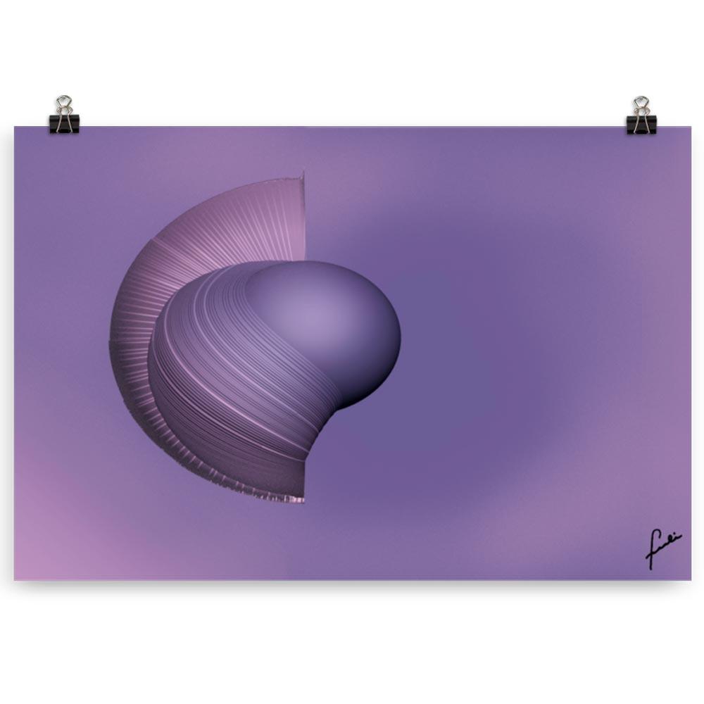 Reproducción de arte en lámina 61x91 cm - Guerrero Argarico - Diseño Digital - Abstracto - Fotografía y Pintura -pintado por Fuli