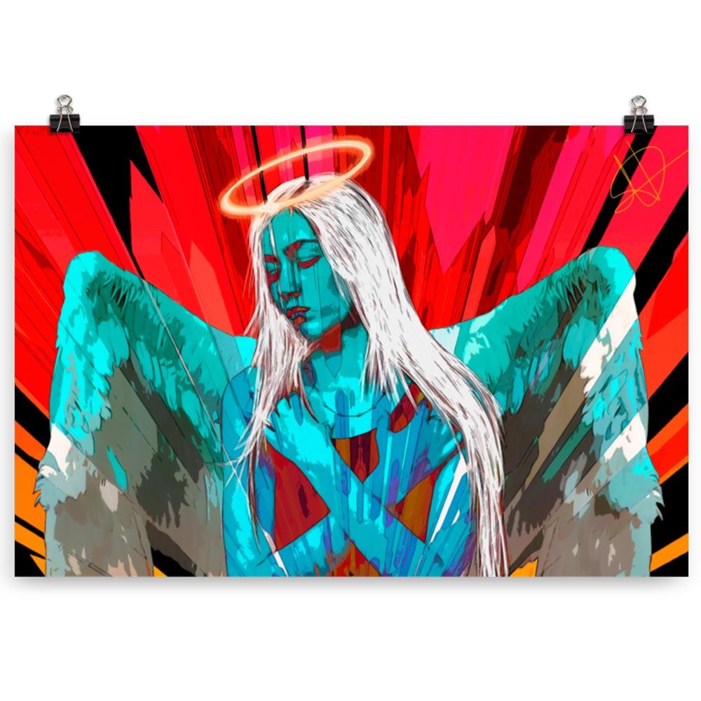 Reproducción de arte en lámina 61x91 cm - Angel Awakening - Diseño Digital - Ilustración - Fotografía y Pintura -pintado por WachiMakeArt