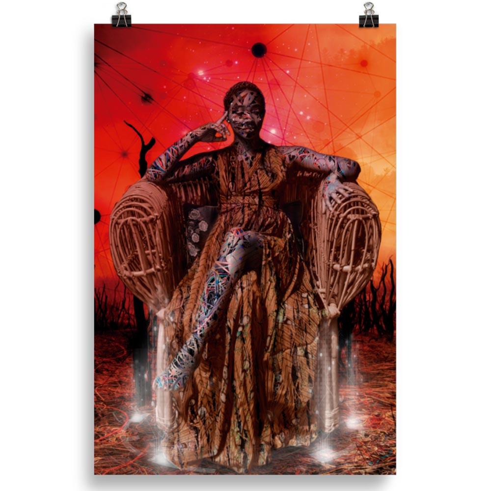 Reproducción de arte en lámina 61x91 cm - Desconexión - Diseño Digital - Ilustración - Fotografía y Pintura -pintado por WachiMakeArt