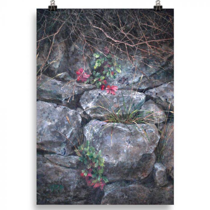 Reproducción de arte en lámina 100x70 cm - Supervivientes - Óleo - Naturalismo-pintado por Fernando Pagador