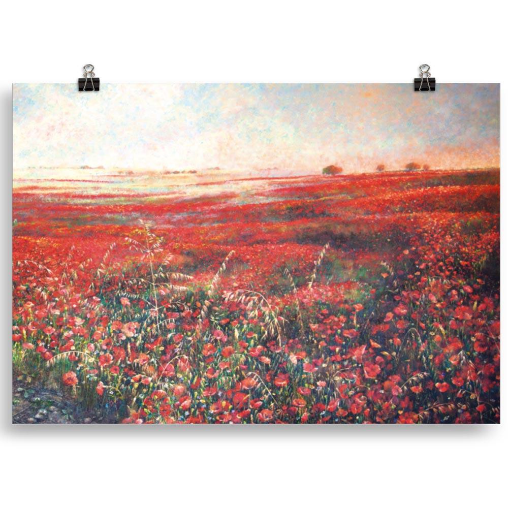 Reproducción de arte en lámina 70x100 cm - Termino de Valverde 3 - Óleo - Paisaje - Naturalismo -pintado por Fernando Pagador