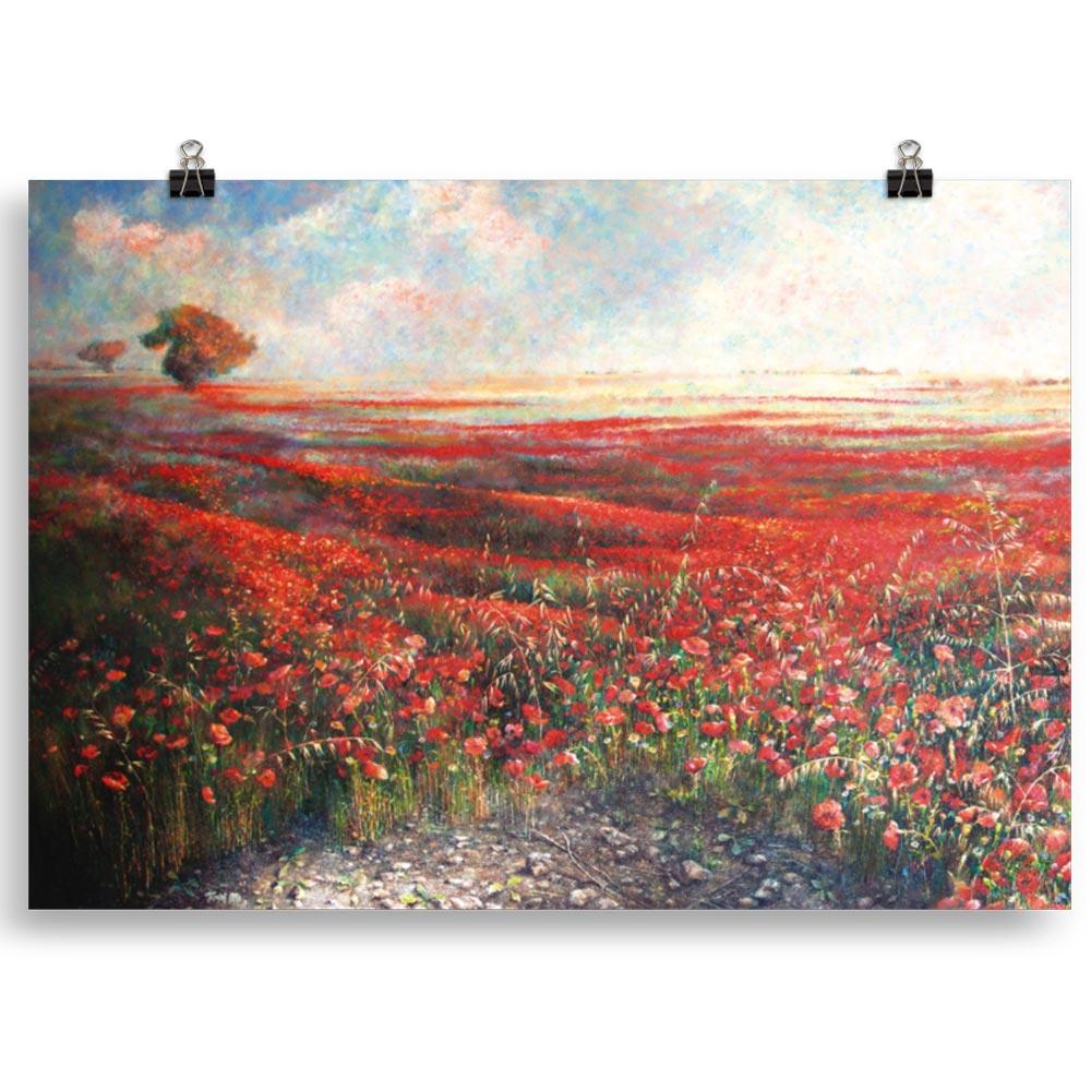 Reproducción de arte en lámina 70x100 cm - Termino de Valverde 1 - Óleo - Paisaje - Naturalismo -pintado por Fernando Pagador