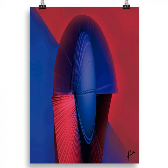 Reproducción de arte en lámina 70x100 cm - Esfinge - Diseño Digital - Abstracto - Modelado 3D -pintado por Fuli
