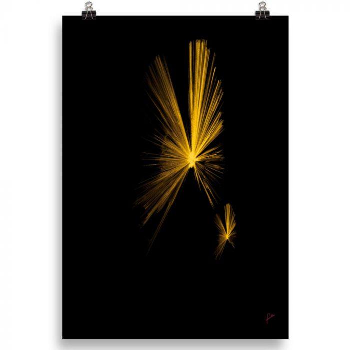 Reproducción de arte en lámina 70x100 cm - Mariposas - Diseño Digital - Abstracto - Fotografía y Pintura -pintado por Fuli