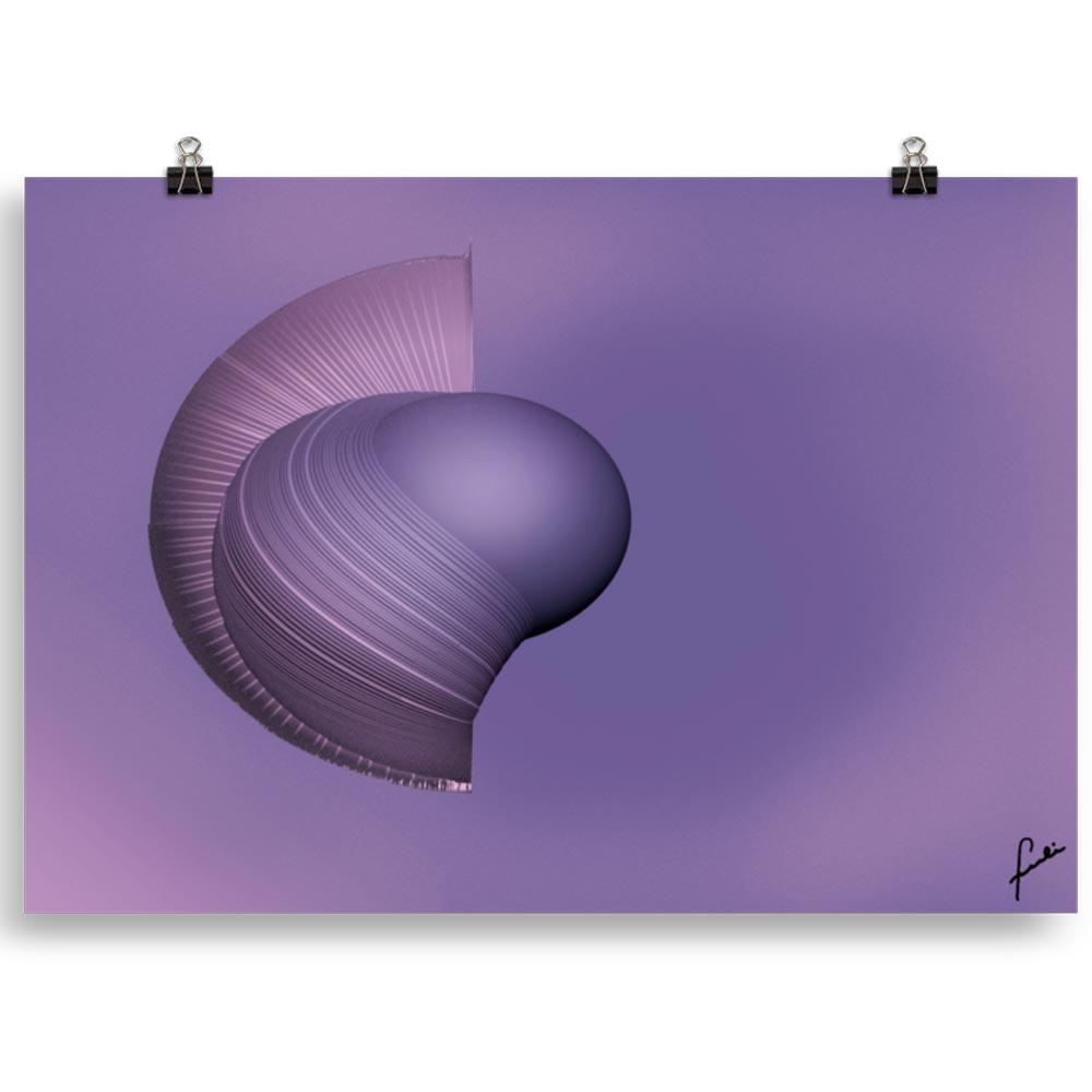 Reproducción de arte en lámina 70x100 cm - Guerrero Argarico - Diseño Digital - Abstracto - Fotografía y Pintura -pintado por Fuli