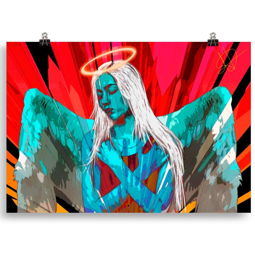 Reproducción de arte en lámina 70x100 cm - Angel Awakening - Diseño Digital - Ilustración - Fotografía y Pintura -pintado por WachiMakeArt