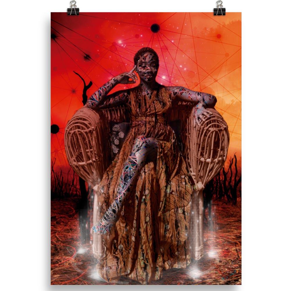 Reproducción de arte en lámina 70x100 cm - Desconexión - Diseño Digital - Ilustración - Fotografía y Pintura -pintado por WachiMakeArt