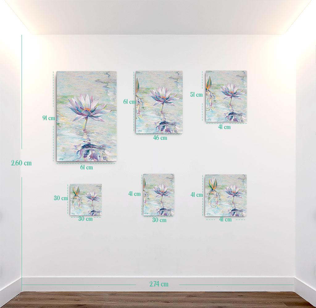 Reproducción de arte en lienzo - medidas - Agua II - Óleo - Paisaje - Naturalismo -pintado por Fernando Pagador