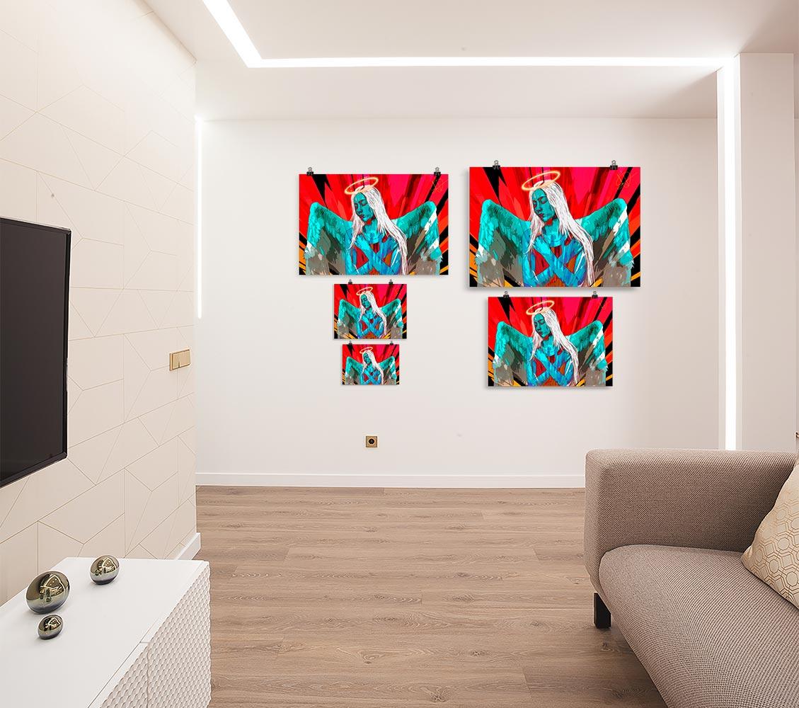 Reproducción de arte en lámina - salón - Angel Awakening - Diseño Digital - Ilustración - Fotografía y Pintura -pintado por WachiMakeArt