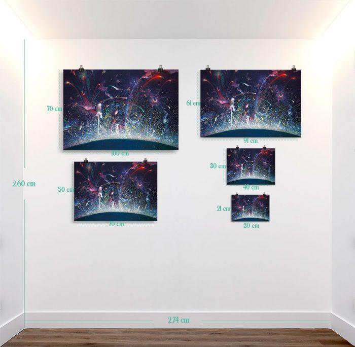 Reproducción de arte en lámina - medidas - Apoteosis - Óleo - Ónirico - Puntillismo -pintado por Fernando Pagador