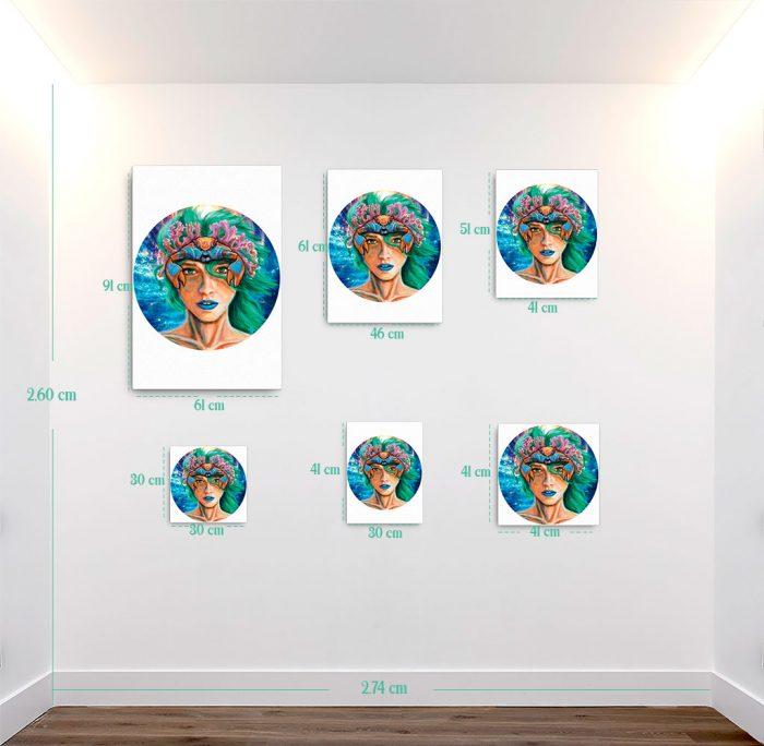 Reproducción de arte en lienzo - medidas - La Fortaleza de Cancer - Diseño Digital - Zodiaco - Ilustración -pintado por Adrian Pagador