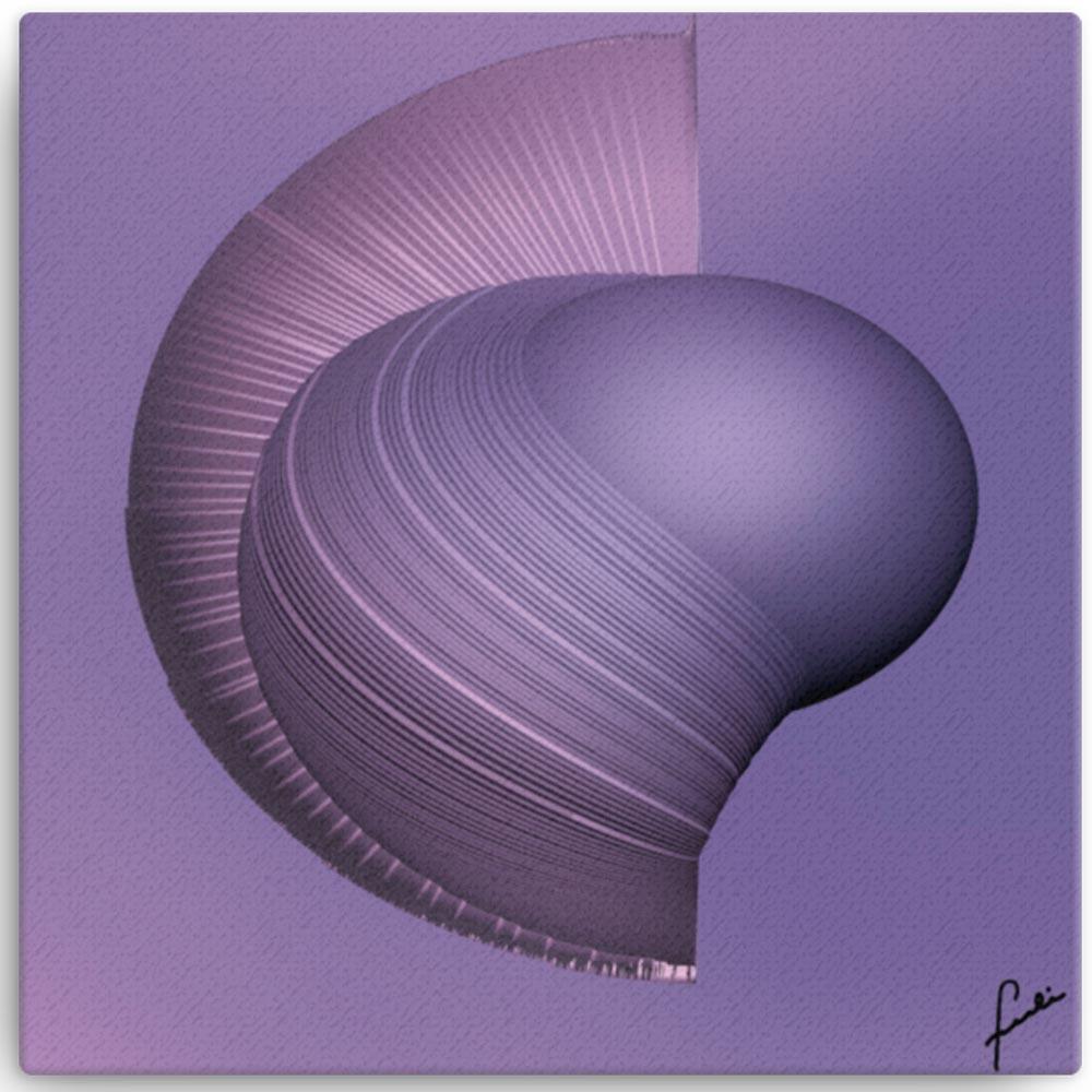 Reproducción de arte en lienzo 30x30 cm - Guerrero Argarico - Diseño Digital - Abstracto - Fotografía y Pintura -pintado por Fuli