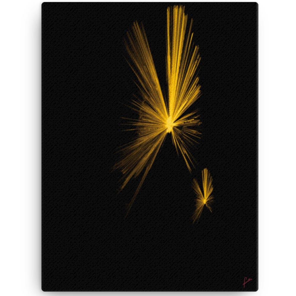 Reproducción de arte en lienzo 30x41 cm - Mariposas - Diseño Digital - Abstracto - Fotografía y Pintura -pintado por Fuli