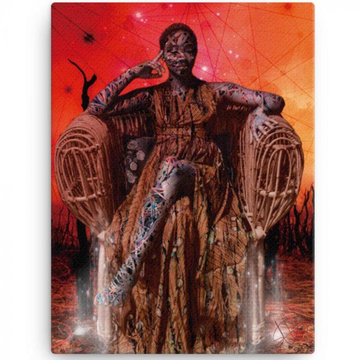 Reproducción de arte en lienzo 30x41 cm - Desconexión - Diseño Digital - Ilustración - Fotografía y Pintura -pintado por WachiMakeArt