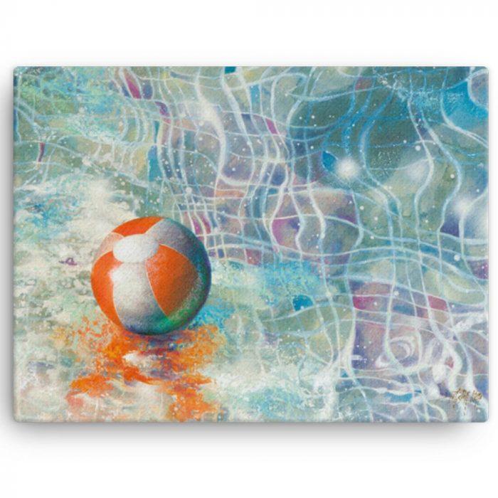 Reproducción de arte en lienzo 41x30 cm - Reflejos - técnica mixta - Surrealismo -pintado por Fernando Pagador