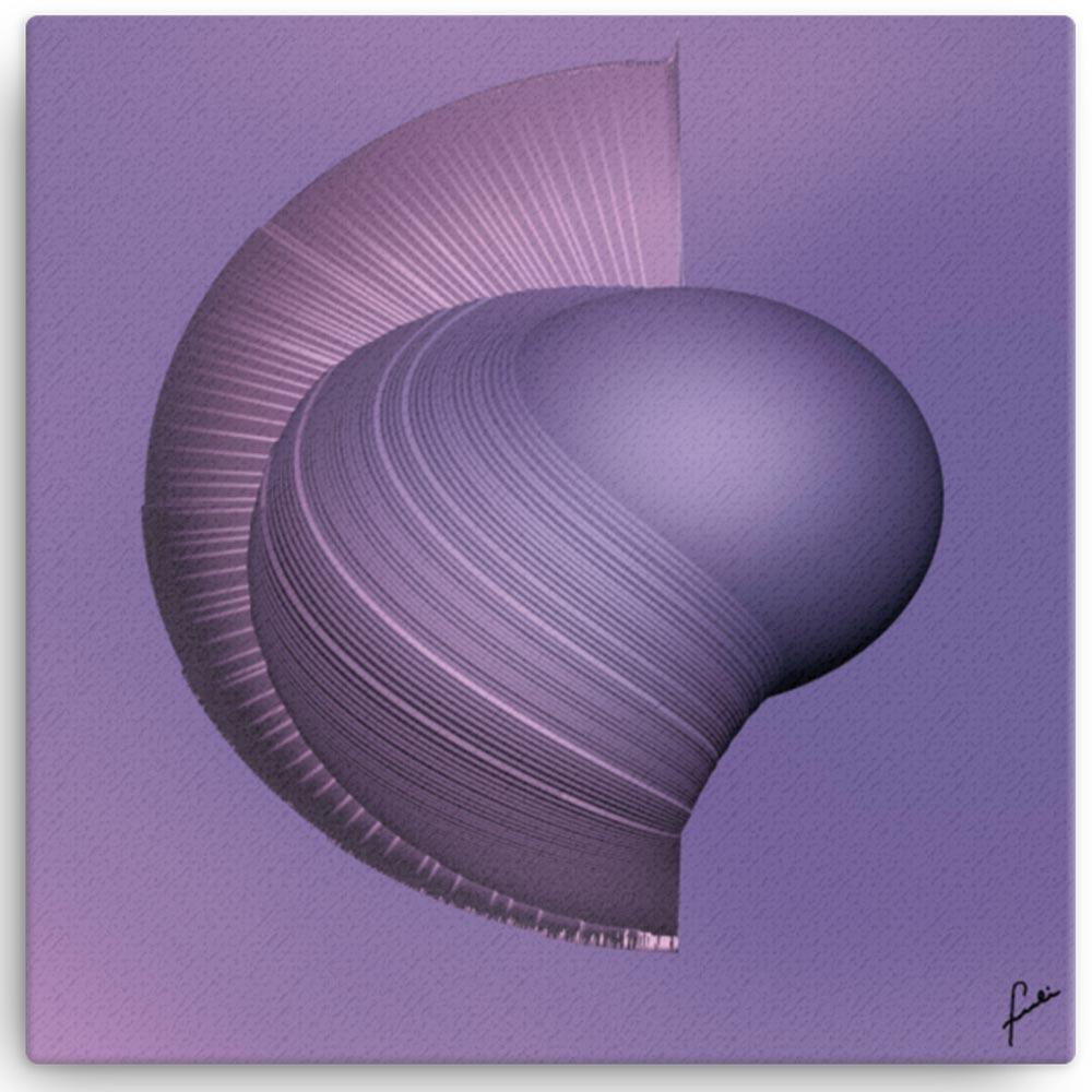 Reproducción de arte en lienzo 41x41 cm - Guerrero Argarico - Diseño Digital - Abstracto - Fotografía y Pintura -pintado por Fuli