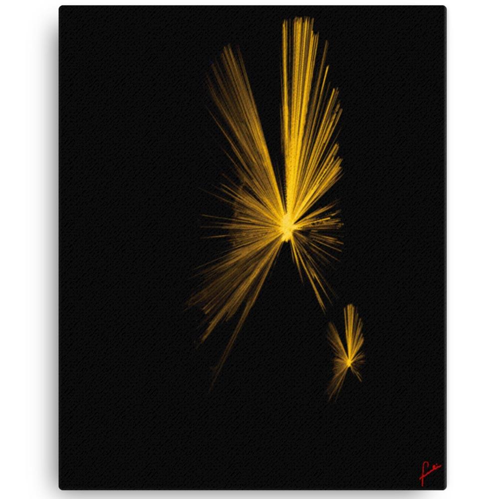 Reproducción de arte en lienzo 41x51 cm - Mariposas - Diseño Digital - Abstracto - Fotografía y Pintura -pintado por Fuli