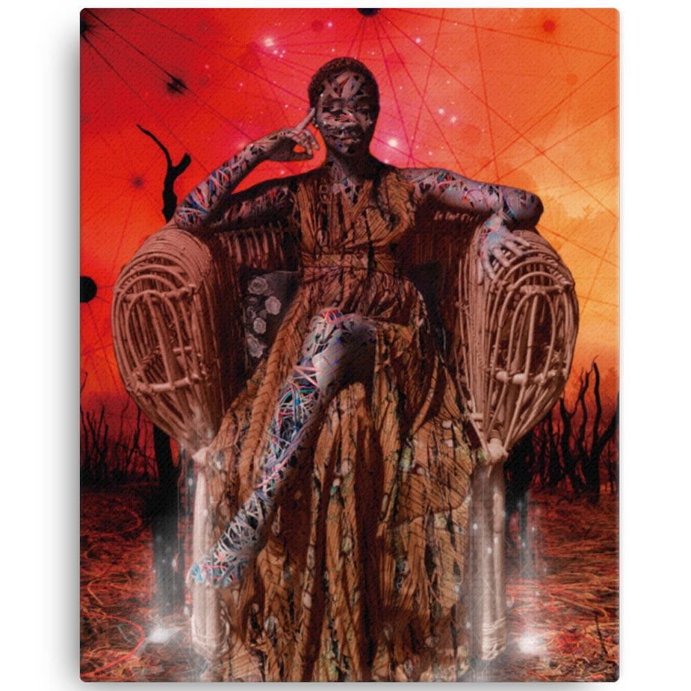 Reproducción de arte en lienzo 41x51 cm - Desconexión - Diseño Digital - Ilustración - Fotografía y Pintura -pintado por WachiMakeArt