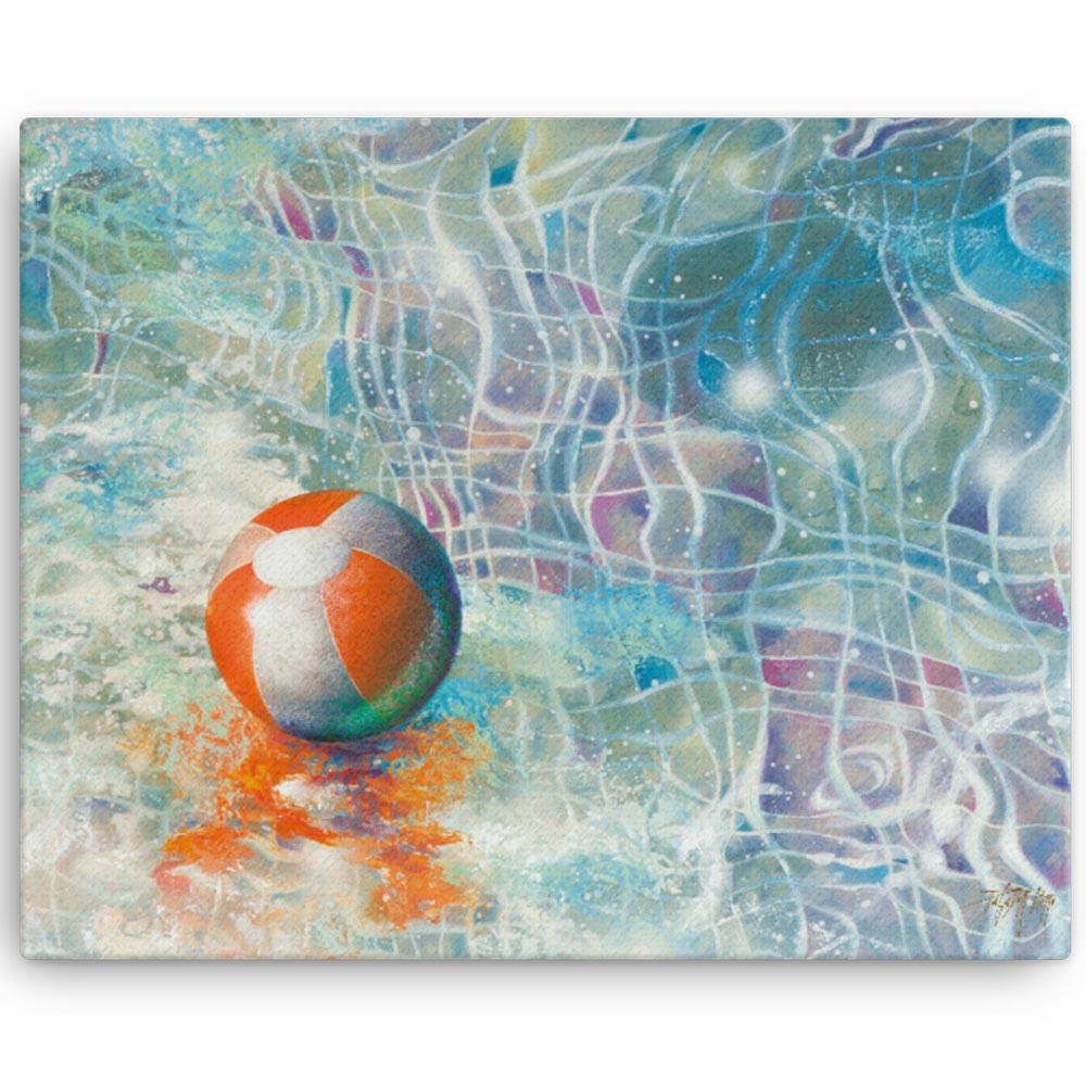 Reproducción de arte en lienzo 41x50 cm - Reflejos - técnica mixta - Surrealismo -pintado por Fernando Pagador