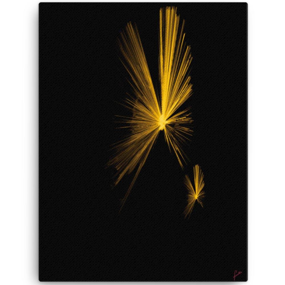Reproducción de arte en lienzo 46x61 cm - Mariposas - Diseño Digital - Abstracto - Fotografía y Pintura -pintado por Fuli
