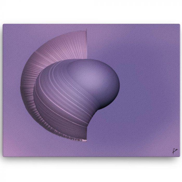 Reproducción de arte en lienzo 46x61 cm - Guerrero Argarico - Diseño Digital - Abstracto - Fotografía y Pintura -pintado por Fuli