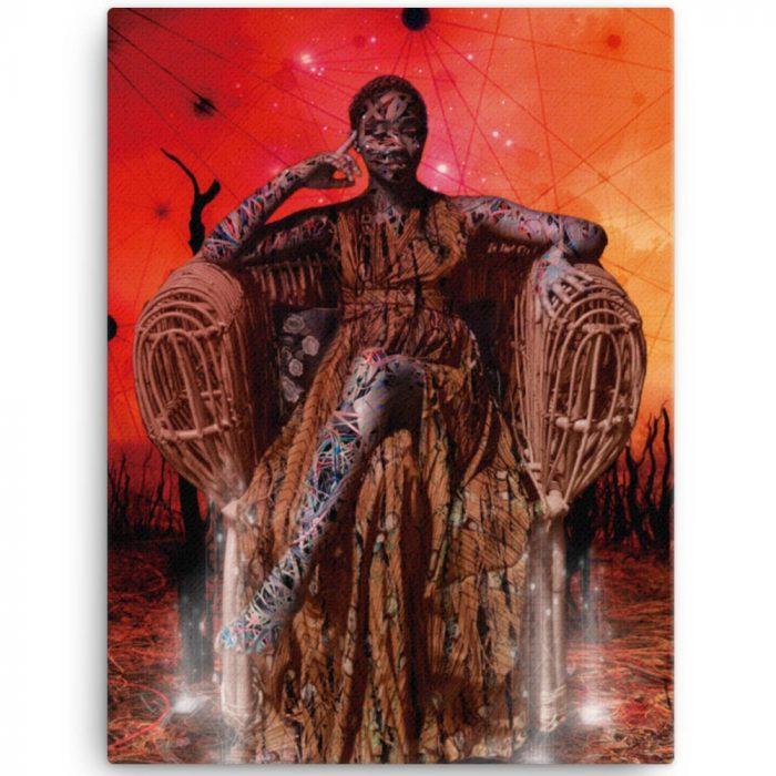 Reproducción de arte en lienzo 46x61 cm - Desconexión - Diseño Digital - Ilustración - Fotografía y Pintura -pintado por WachiMakeArt