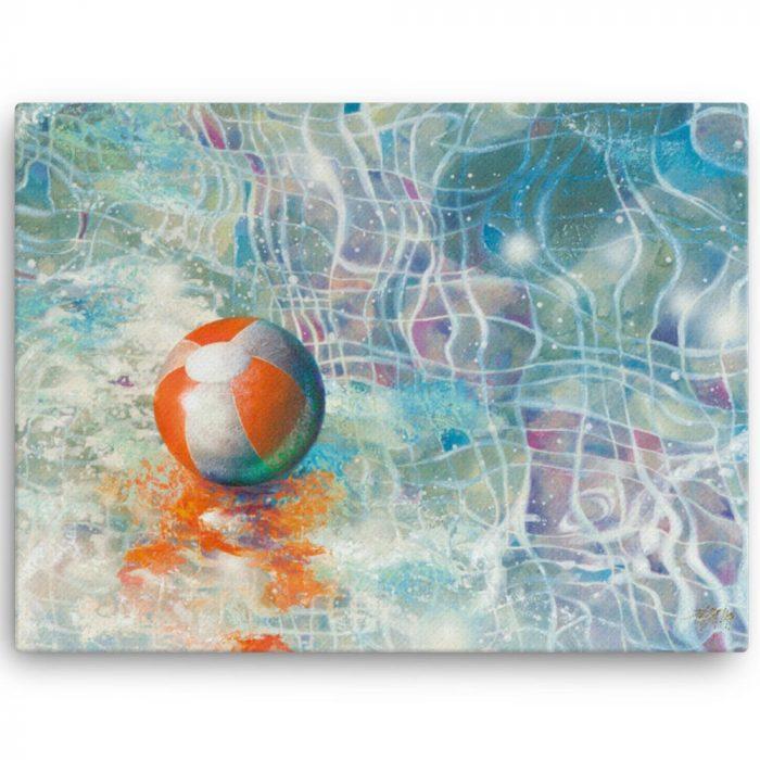 Reproducción de arte en lienzo 46x61 cm - Reflejos - técnica mixta - Surrealismo -pintado por Fernando Pagador