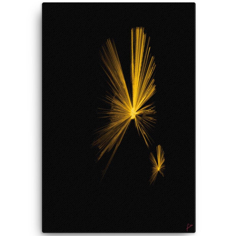 Reproducción de arte en lienzo 61x91 cm - Mariposas - Diseño Digital - Abstracto - Fotografía y Pintura -pintado por Fuli