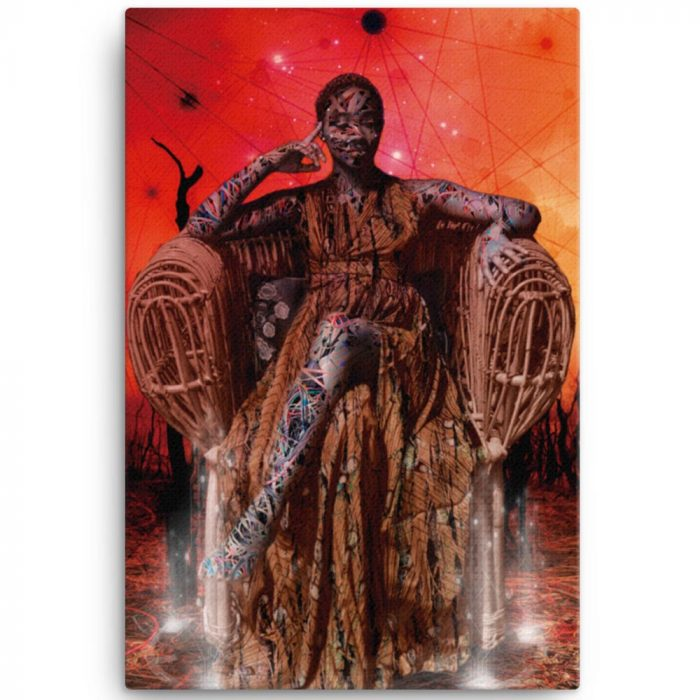 Reproducción de arte en lienzo 61x91 cm - Desconexión - Diseño Digital - Ilustración - Fotografía y Pintura -pintado por WachiMakeArt